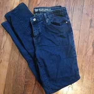 Gap mid rise skinny fit jeans